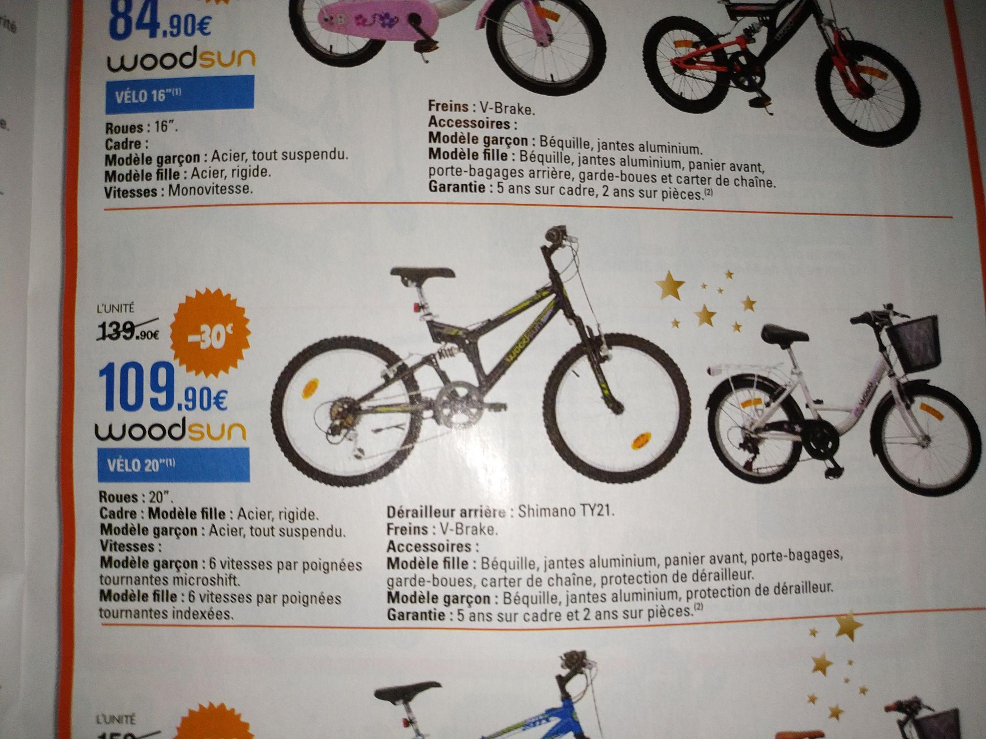 """Vélo enfant 20"""" Woodsun - 6 vitesses"""