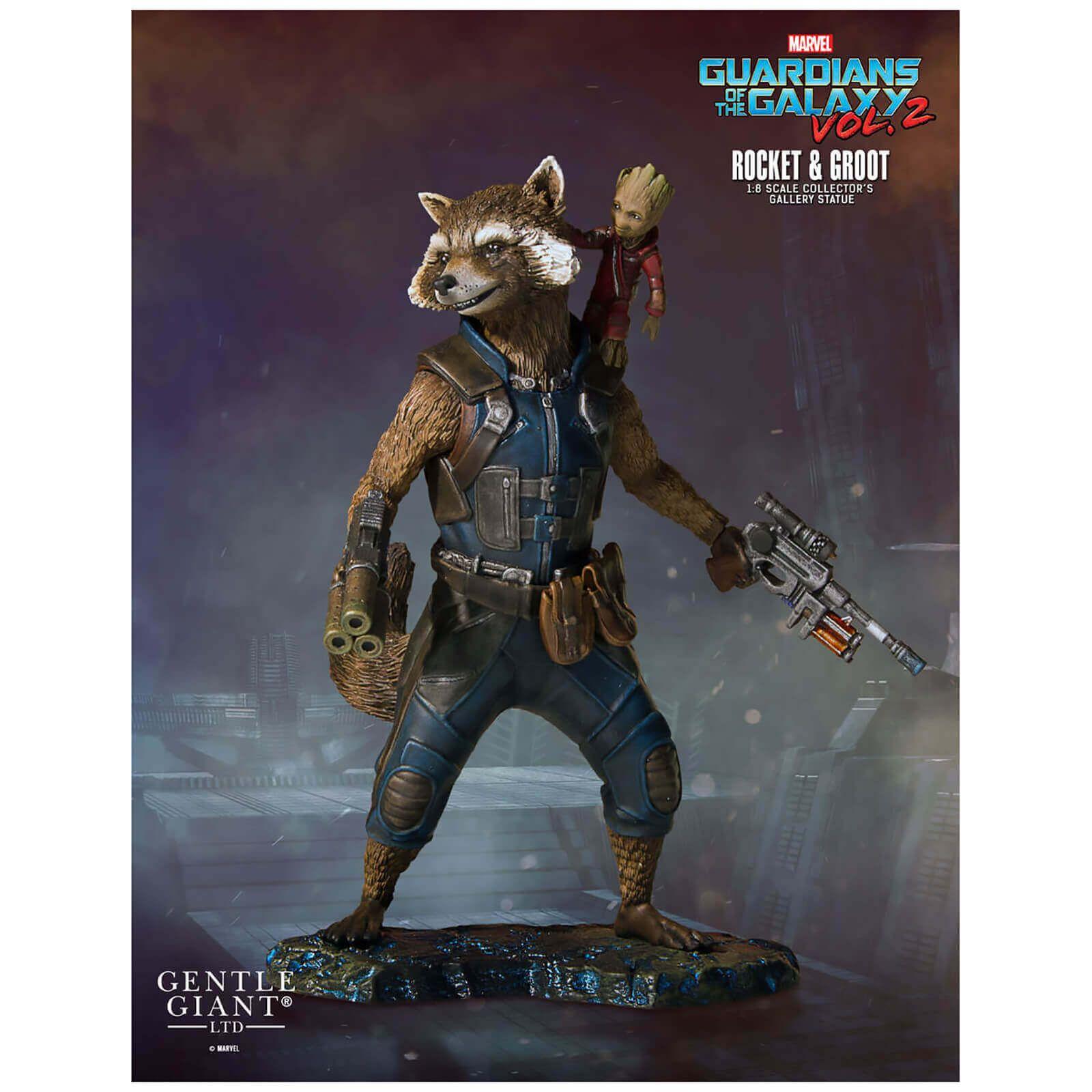 Statuette Rocket & Groot des Gardiens de la Galaxie2 de Marvel, Collectors Gallery– Gentle Giant échelle 1:8 (11cm)