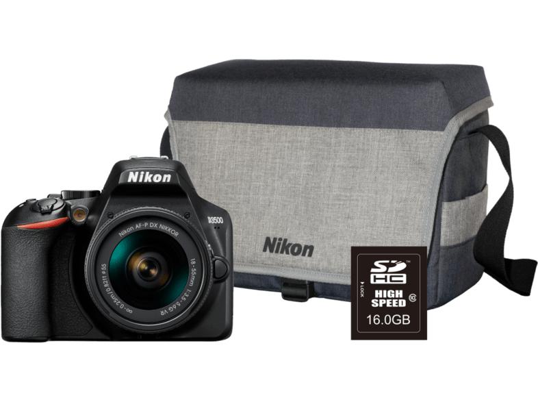 Appareil Photo Nikon Reflex D3500 + Objectif 18-55 mm DX VR + Sac + Carte SD 16Go (Frontaliers Belgique)