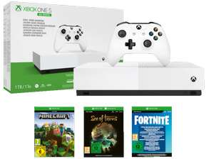Xbox One S 1To All Digital + Minecraft + Sea of Thieves + Fortnite (Frontaliers Allemagne)