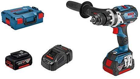 Perceuse A Percussion sans-fil Bosch Professional GSB 18 V-85 C (18V, 1 batterie 5,0 Ah, 1 batterie SL 3,0 Ah, 1 chargeur, L-Boxx)