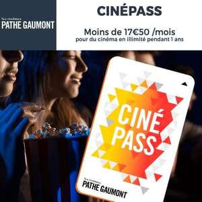 Abonnement Cinepass 1an illimité chez Pathé Gaumont (soit 17,50€/mois)