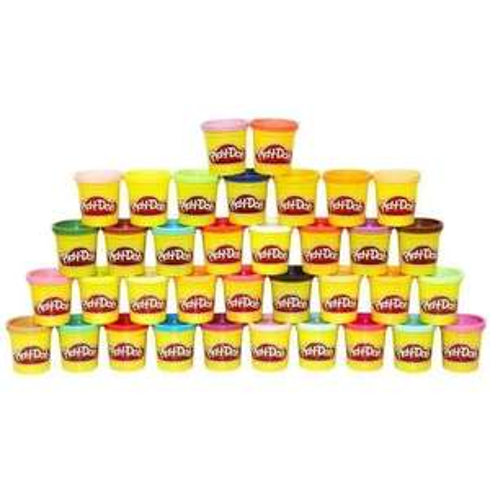 36 pots de pâte à modeler PLAY-DOH de 85g à 19,99€ ou 108 pots à 39,98€