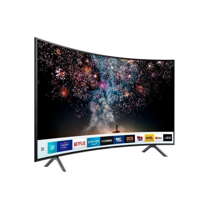 """TV LED 55"""" Samsung UE55RU7372 - 4K UHD, Ecran Incurvé, Smart TV"""