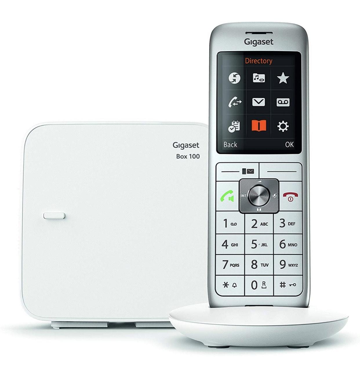 Téléphone Fixe Sans-fil Gigaset CL660 Solo - 1 Combiné - Blanc