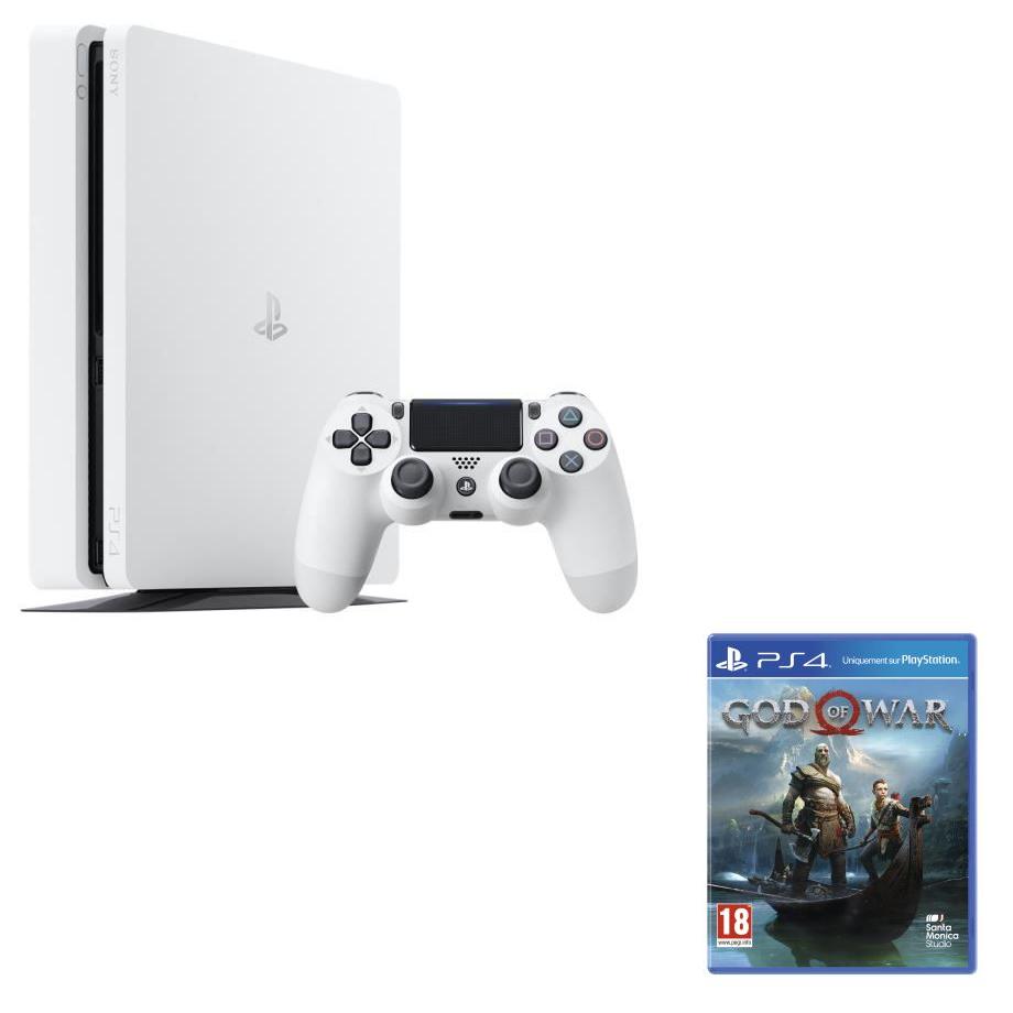 Console Sony PS4 Slim - 500 Go (Blanc ou Noir avec Fortnite) + Jeux au choix