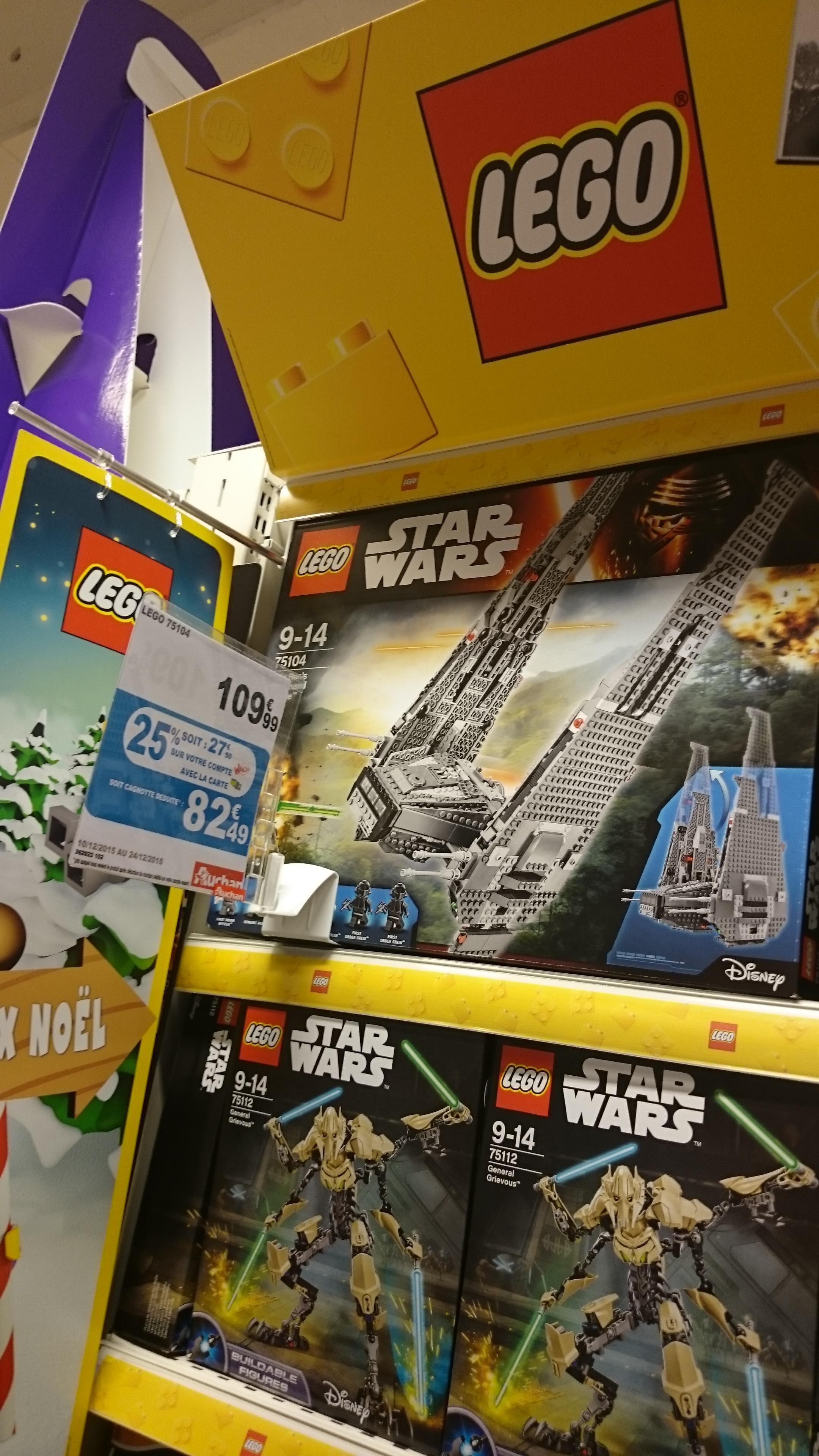 Sélection de Lego Star Wars en promotion - Ex : Kylo Ren's Command Shuttle n°75104 (via 27.50€ carte Waaoh)