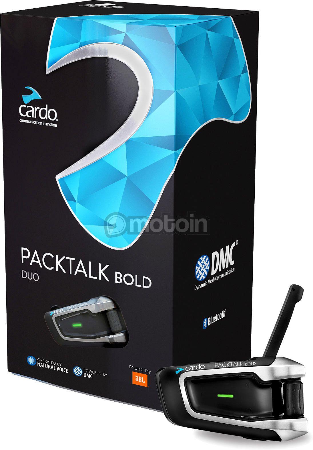 Kit de communication / Intercom double moto Cardo Packtalk Bold Duo (motoin.de)
