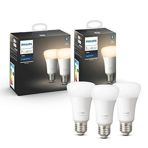 Lot de 3 Ampoules Connectées Philips Hue White E27