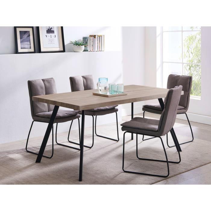Table à manger pour 6 personnes Hector (sans les chaises) - L160 x P90 x H76 cm