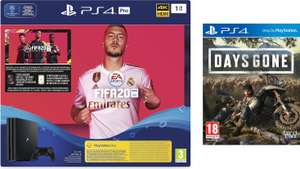 Console Sony PS4 Pro 1 To + Fifa 20 + Days Gone (Frontaliers Suisse)