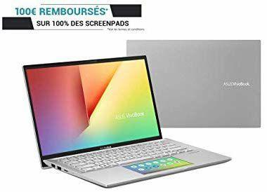 """PC Portable 14"""" Asus VivoBook S S432FA-EB044T - FHD, i5-8265U, RAM 8 Go, 512 Go SSD, Windows 10, ScreenPad (Via ODR 100€)"""
