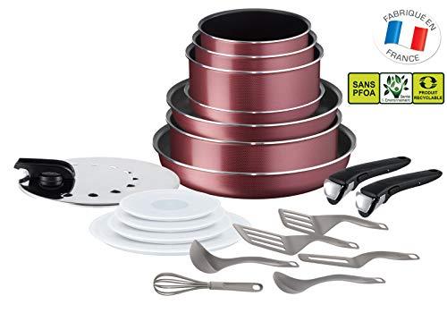 Batterie de cuisine Tefal Ingenio Essential L2289002 - 20 pièces, Tous feux sauf induction