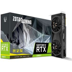 Carte graphique Zotac GeForce RTX 2080 Ti 11GB Twin Fan (992,63 avec BLACKMOUTH)