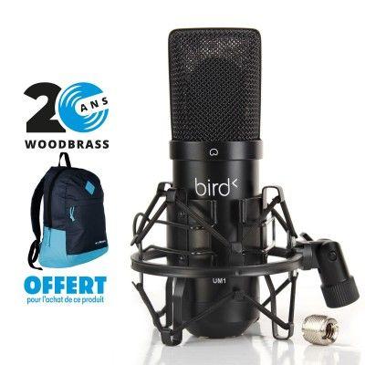 Microphone USB Bird UM1 + Sac a dos WoodBrass gratuit