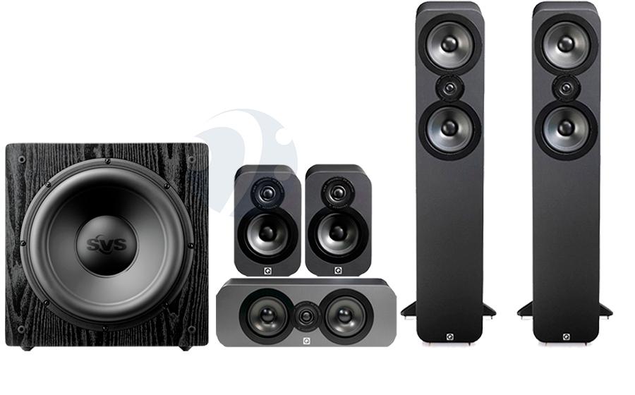 Kit Enceintes 5.1 Q Acoustics 3050 Cinema Pack + Caisson de basses SVS SB12-NSD - Graphite