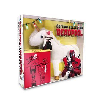 Coffret Deadpool et Deadpool 2 Steelbook Edition Collector Limitée Blu-ray, Inclus peluche Licorne et poster