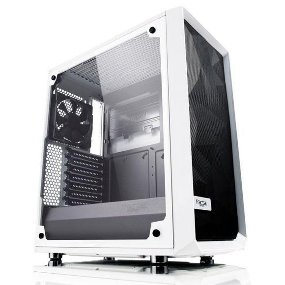 Boîtier PC FRACTAL DESIGN Meshify C Blanc - Avec fenêtre