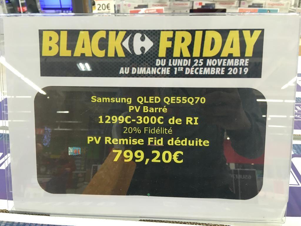 """TV 55""""Samsung 55Q70R QLED (via 20% de remise fidélité) - Villiers-en-Biere"""