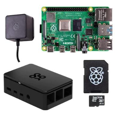 Kit de démarrage complet Raspberry Pi 4 4G modèle B (ARMv8) (Frontaliers Suisse)