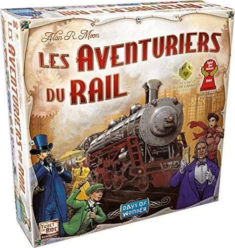 Jeu de Sratégie Les Aventuriers du Rail USA Asmodee AVE01