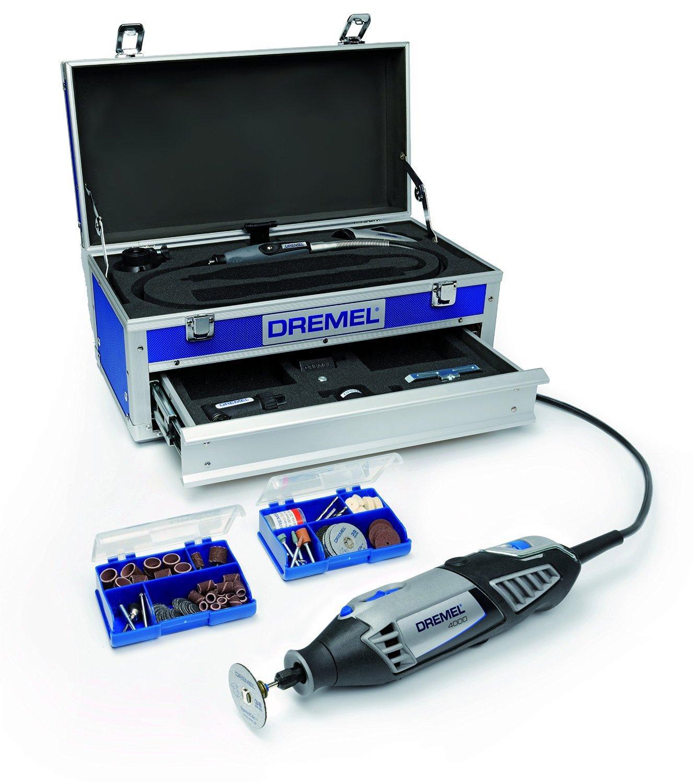 Caisse à outils Dremel 4000 Edition Platinium avec 128 accessoires