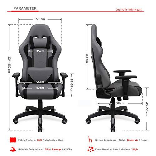Chaise de bureau IntimaTe WM Heart - Gris (Vendeur tiers)