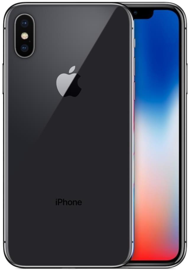 """Smartphone 5.8"""" Apple iPhone X (full HD+, A11, 3 Go de RAM, 64 Go, gris) - reconditionné Très Bon État"""