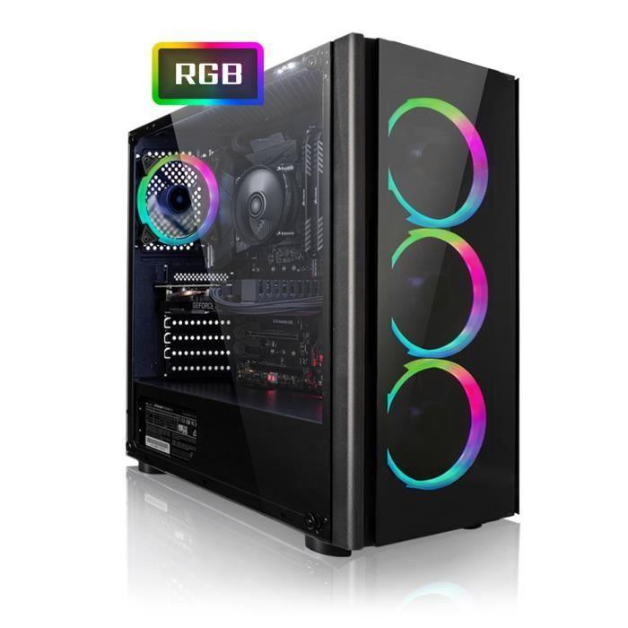 PC Megaport Gamer AMD Ryzen 5 2600 6x 3,90 GHz Turbo - GeForce GTX1060 6Go, 16Go DDR4, 240Go SSD, 1To, Windows 10, WiFi (Vendeur Tiers)