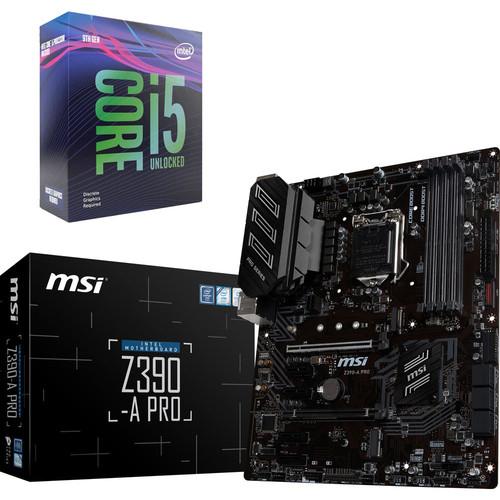 Processeur Intel I5-9600KF + Carte mère MSI Z390 (via ODR de 40€)