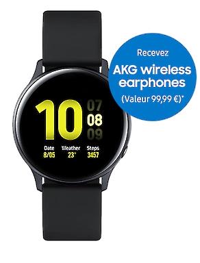 Montre Connectée Galaxy Watch Active2 (44mm) + écouteurs sans fil AKG Y100 Bluetooth