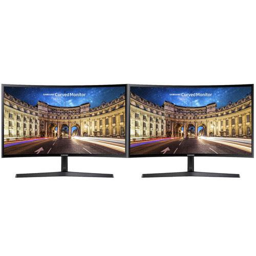 "Lot de 2 écrans PC incurvé 27"" Samsung C27F396FHU - full HD, LED VA, 4 ms, FreeSync"