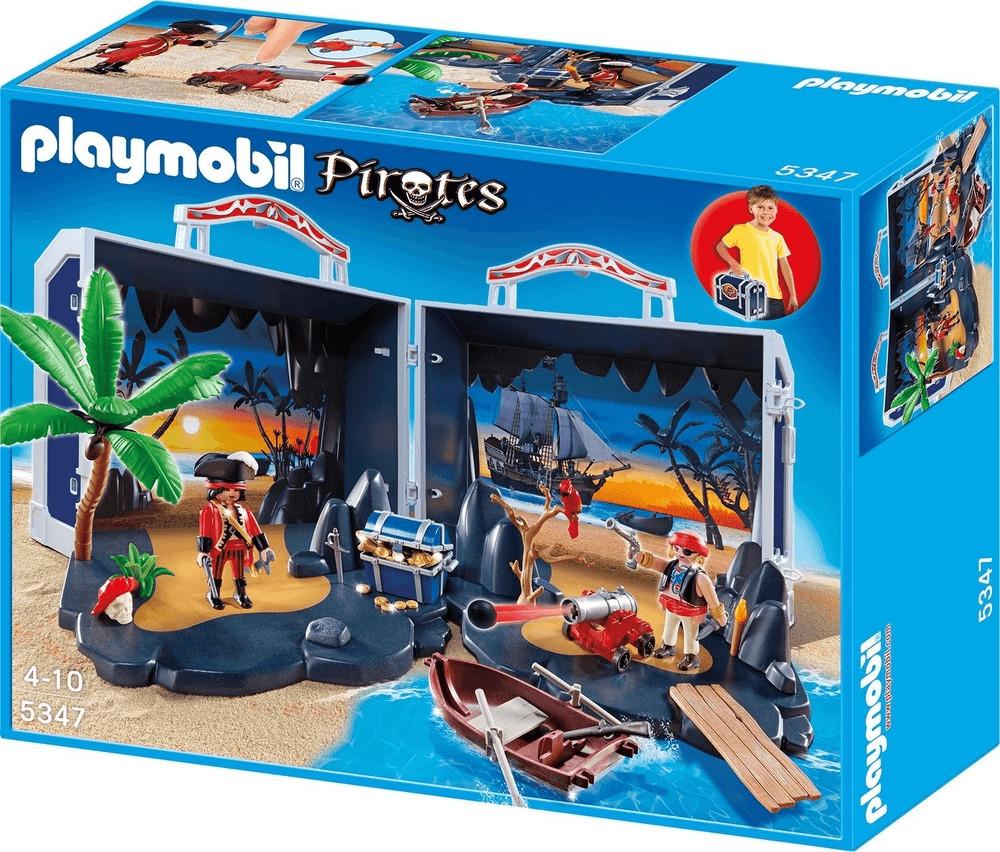 Jouet Playmobil Île au trésor des pirates transportable 5347 (via 22.45€ sur la carte de fidélité)
