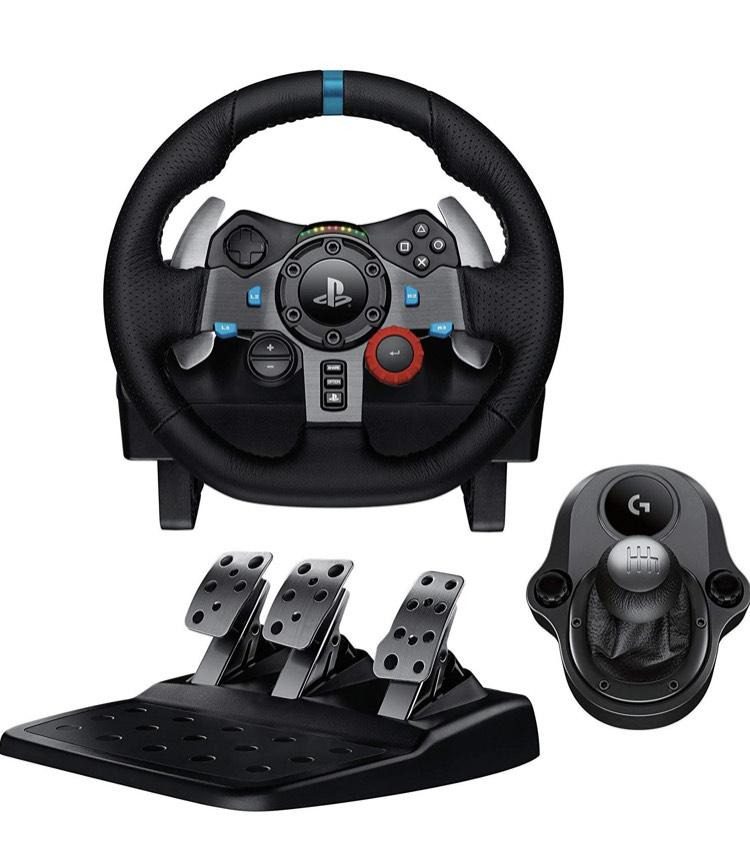 Pack Logitech : Volant G29 pour PC et PS4 avec Pédalier + Levier de vitesse Driving Force Shifter