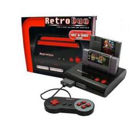 Console RETRO DUO : Super Nintendo et Nes + 2 manettes