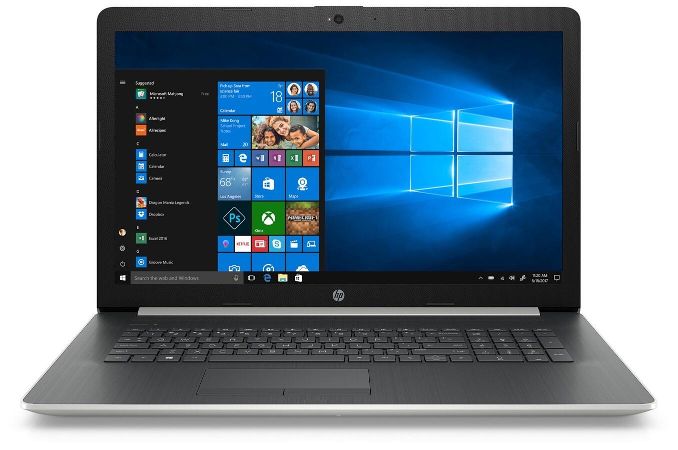 """PC Portable 17,3"""" HP 17-ca1005nfR5 - AMD Ryzen 5 3500U, 8 Go RAM, 128 Go SSD + 1 To HDD"""