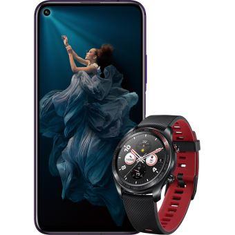 """Smartphone 6.26"""" Honor 20 Pro - Double SIM, RAM 8 Go, 256 Go, Fantôme noir + Montre connectée Honor Watch Magic Black (Frontaliers Belgique)"""
