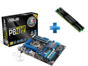 Carte mère Asus P8Z77-V Socket LGA1155 + 2 Barrettes Crucial Ballistix Sport DDR3 PC3-12800 2 x 8 Go(16Go) paiement via buyster