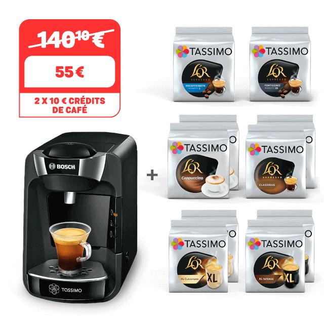 Machine à café dosette Tassimo Suny + 10 paquets de café