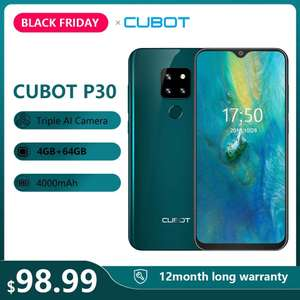 """Smartphone Cubot P30 6.3"""" 4GB + 64GB Android 9"""
