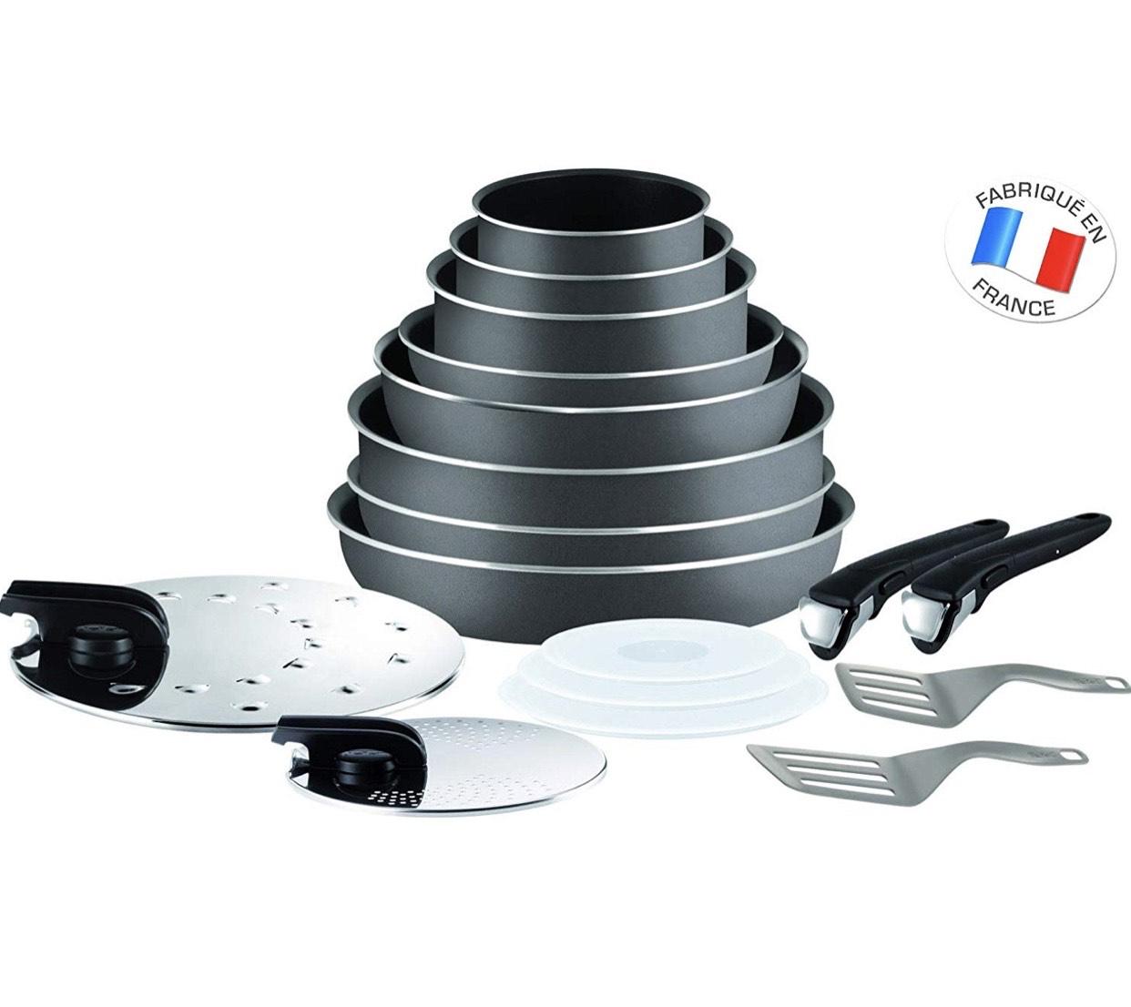 Lot de 17 Pièces Tefal L2049002 Ingenio 5 Essentials - Tous feux sauf induction
