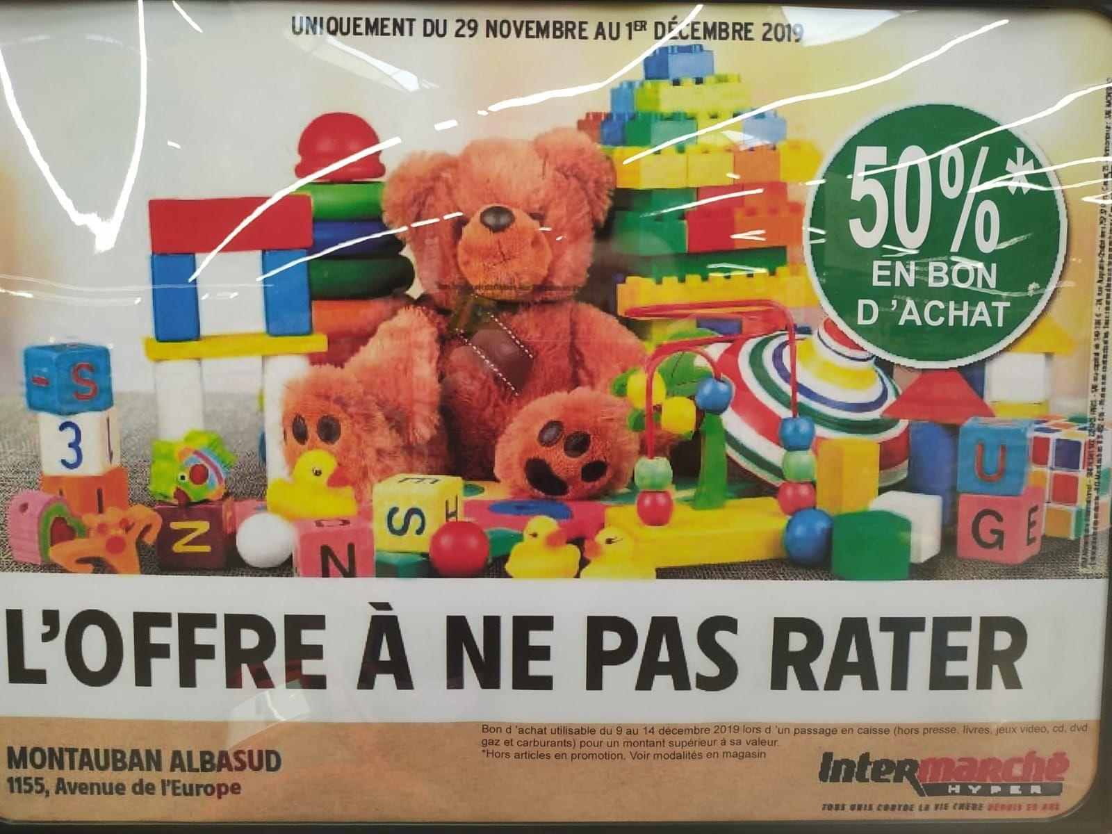 50% remboursés en bon d'achat sur tous les jouets - Montauban (82)