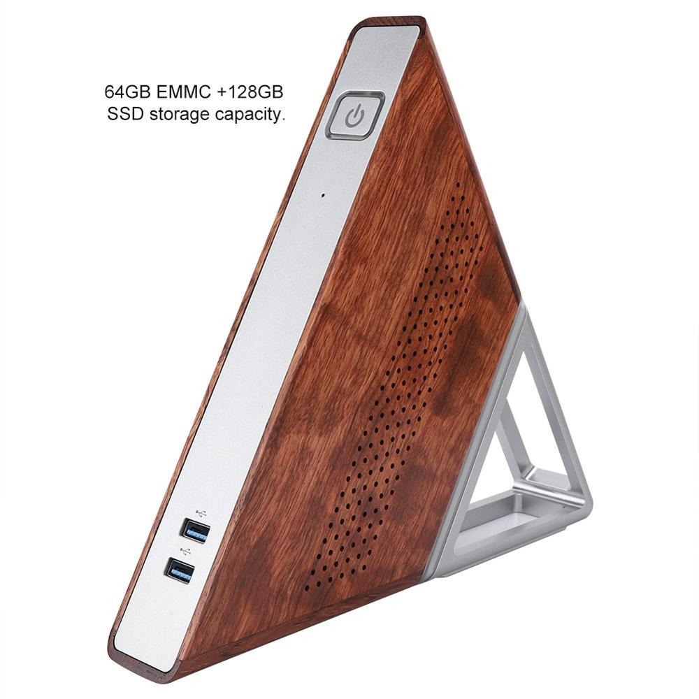 Mini-PC AA-B4 - Apollo Lake N3450, 8 Go de RAM, 128 Go en SSD + 64 Go en eMMC, Wi-Fi