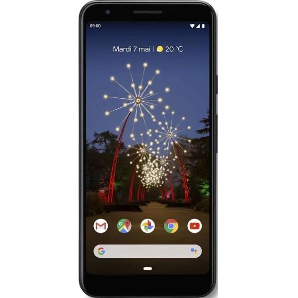 """Smartphone 5.6"""" Google Pixel 3A - 64Go, Noir (302,15€ avec le code CYBMO1460)"""