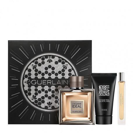 Coffret Guerlain L'Homme Idéal - Eau de parfum 100mL + Gel douche 75mL + Vaporisateur 10mL