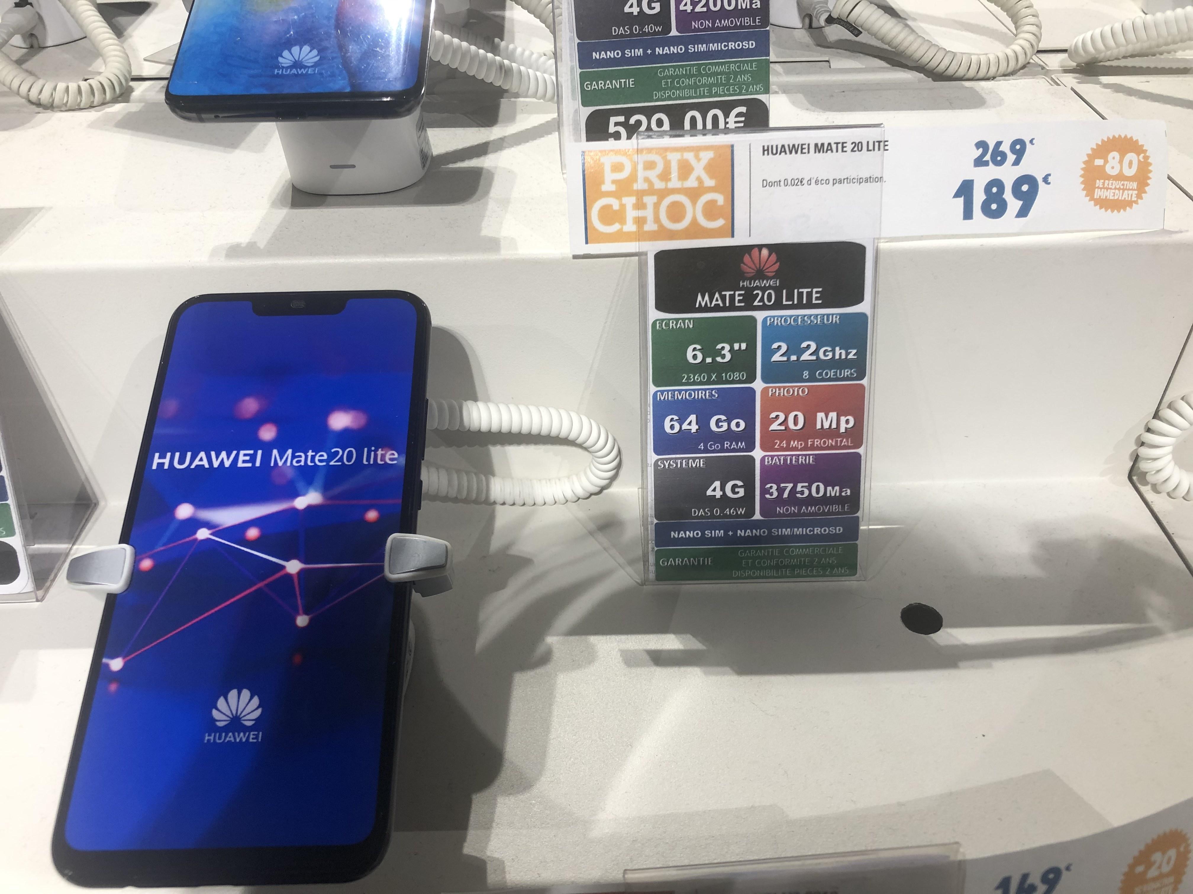 "Smartphone 6.3"" Huawei Mate 20 Lite - 4 Go RAM, 64 Go (Blagnac 31)"
