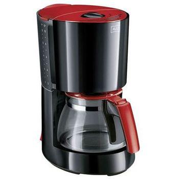 Cafetière filtre Melitte Enjoy Glass Rouge et Noir 10-15 Tasses 900W livraison incluse