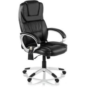 Chaise de bureau avec chauffage et massage McHaus - noir