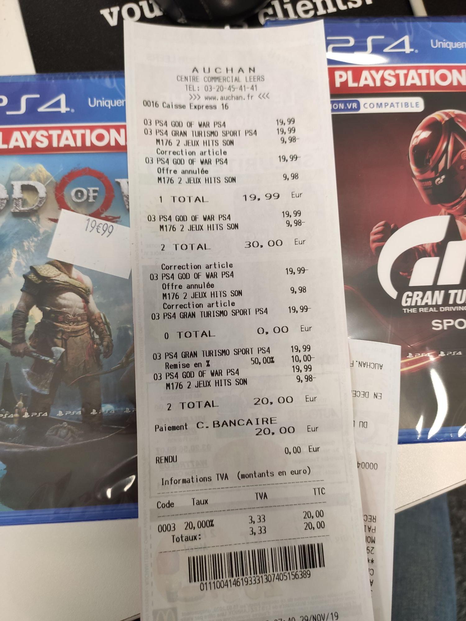 50% de réduction sur les jeux PS4 PlayStation Hits - Ex : God Of War - Leers (59)