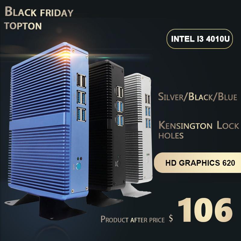 Mini-PC Barebone Fanless - Intel i3-7100U, DDR4, HDMI, VGA, USB3 (RAM/SSD en option)